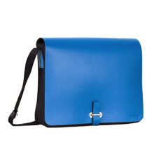 NUDESIGN Shoulder Bag w/ Buckle ALF-MB01L - Cobalt / 33x9.5x42cm