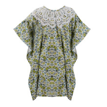 LITTLE SUPERSTAR Khamilah Caftan Green Flower D092G