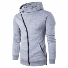 BESSKY Men Zipper Hooded Coat Outwear Sweater Casual Shirt T-shirts Hoodie Tops-