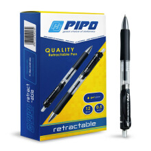 PIPO GP RETRACTABLE PPG2 TInta Hitam (1 Pack = 12 Pcs)