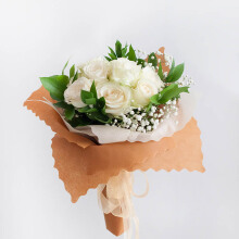 EMME Handbouquet Bunga Shades of Almond - White / 42 x 35 x 35 cm