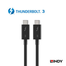 LINDY Thunderbolt 3 Cable 0.5m - Black