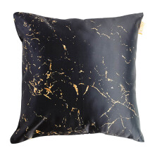 GLERRY HOME DÉCOR Golden Black Marble Cushion - 40x40Cm
