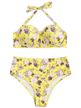 Floral Push Up Underwire Bikini Set