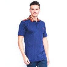 ALINSKIE BROTHERS Bamboo Mens Polo Shirt Carnelian A1017 - Navy