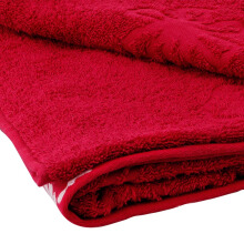 LENUTA Bath Towel Silver - Regia Red ( 68x140cm )