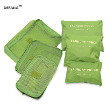 DEFANG Multifunctional 6pcs / Kit Zipper Travel Bags Outdoor Storage Luggage Pouch