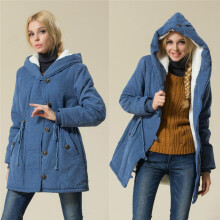 BESSKY Fashion Winter Warm Womens Jacket lambswool Cotton Coat Parka Thicker Outwear_