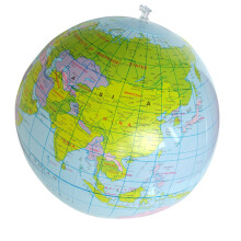 BESSKY Inflatable Globe Education Geography Toy Map - Blue