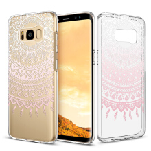 Samsung Galaxy S8 Plus Case,ESR Design with Soft TPU Bumper+Hard PC Back Cover for Samsung Galaxy S8 Plus (Pink Manjusaka)