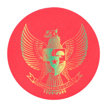 Tactical Series Velcro Patch 7.25 x 7.25 cm - Garuda Pancasila - Red Rainbow