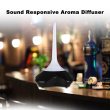 Excelvan Sound Responsive Essential Oil Aroma Diffuser Ultrasonic Humidifier Air Mist Aromatherapy Purifier White GX-09K