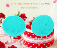 2pcs DIY Silicone Peony Flower Fondant Cake Mold Decorating Tool