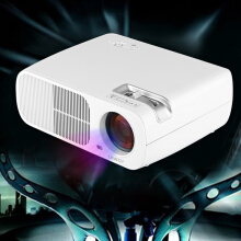 mini LED LCD projector home theater White
