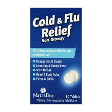 NATRA Bio Cold & Flu Relief 60 Tabs