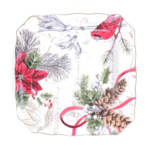 222 FIFTH - Side Plate - Set of 4 - Holiday Wishes