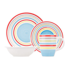 NAKAMI Dinner Set Blue Strip 2605-B - 16PCS