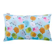 JOYLIVING Cushion Rectangular Kitty Head Light Blue 30 cm x 50 cm