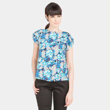 Blanik Eve Blouse Print Blue Blue All Size
