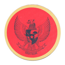 Tactical Series Velcro Patch 7.25 x 7.25 cm - Garuda Pancasila - Red Yellow