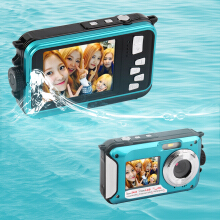 Digital Camera Waterproof 24MP MAX 1080P Double Screen16x Zoom Camcorder