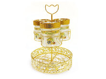 VICENZA Candy Jar with Water Rack Padi 7Pcs GA3