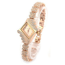 BESSKY New Fashion Women Crystal Quartz Rhombus Bracelet Bangle Wrist Watch-
