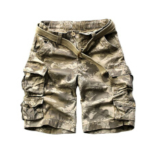 European and American fashion new men's large size multi-pocket camouflage overalls men loose Shorts Picture Color 3XL