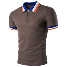 Color Block Collar Men Polo T-shirt