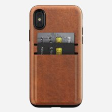 Nomad Wallet Card Case for iPhone X - Brown