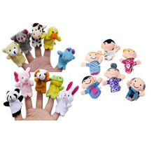 BESSKY 16PC Finger Puppets - White