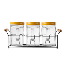 NAKAMI Glass Canister 800ML 3pcs Set NK-GC03800-LMY