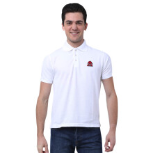 MONSTURO White Polo for Men + Patch