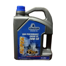 UNILUB OIL Super High Performance Engine Oil 20W/50 - Pelumas Oli Mesin Mobil Bensin [4 L]