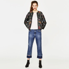 ZARA Embroidered And Sequinned Jacket - Black
