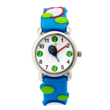 Keymao Tennis Waterproof 3D Cute Cartoon Silicone Wristwatches Gift for Little Girls Boy Kids Children