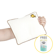 BABY BEE Mini Pillow (with case) - Free Precious Bee Gentle Fresh Softener Refill - 900ml