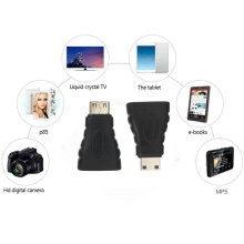 [Kingstore]Mini HDMI(Type C) Male to HDMI(Type A) Female Adapter Connector (AHM2-MN1) 8171