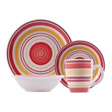 NAKAMI Dinner Set Orange Green 2606-R - 16PCS