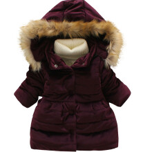 BESSKY Baby Toddler Girls Autumn Winter Hooded Coat Cloak Jacket Thick Warm Clothes_
