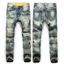 Men Plus Size Straight Disel Jeans Male Distressed Denim Pants Biker Jeans Ro Designer Bin Jeans for Men Religious Outfits