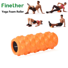 Finether Yoga Foam Roller EVA Exercise Trigger Point GYM Pilates Texture Physio Massage Black ML-101102