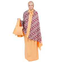 EXOBROOCH Mukena 2in1 Honey Pie - Orange [One Size]
