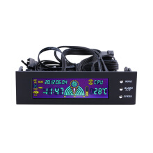 5.25 inch PC Fan Speed Controller Temperature Display LCD Front Panel
