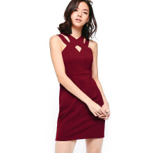 LOVE, BONITO HY3274 Dress - Maroon