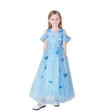 Children's costumes Sky-blue princess dress