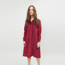 Bel.Corpo Lou ShirtDress - Maroon Red S