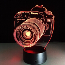 JDWonderfulHouse JDwonderfulhouse Camera 3D visual lights LED colorful touch atmosphere lamp