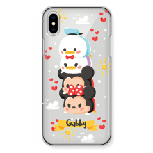 CASETOMIZE Classic Hard Case for Apple iPhone X - Chubby Mickey Tsum Stacked