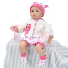 Silicone Reborn Baby Brinquedos Girls Doll Toys 55cm White